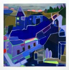 Sandy Litchfield, New Neighbor, abstract gouache landscape, 2019