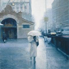 Ben Aronson, 72nd Street Station, pastel impressionist cityscape, 2020