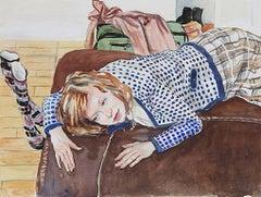 Serge Strosberg, Vienna, expressionist figurative watercolor, 2009