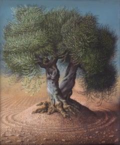 Miriam Escofet, Olive Tree III, gouache on paper landscape, 2009