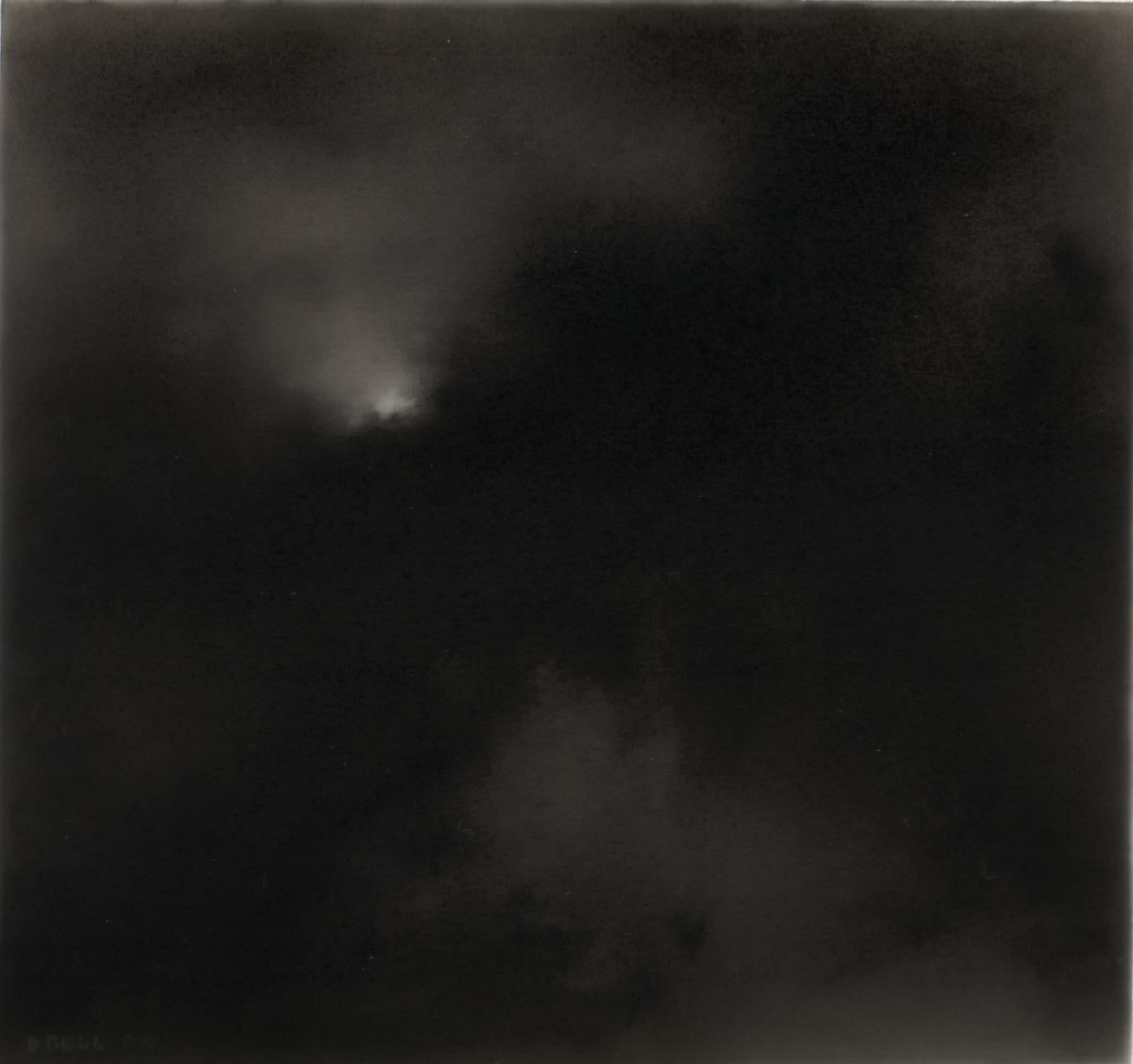 Night wind, 2, realist black and white charcoal landscape drawing
