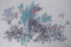 Sung Won Yun, Invisible Traces, abstract science drawing, 2018