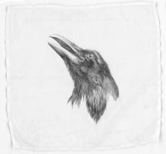 Constance Scopelitis, God is in Clean Laundry: Raven, realist animal drawing