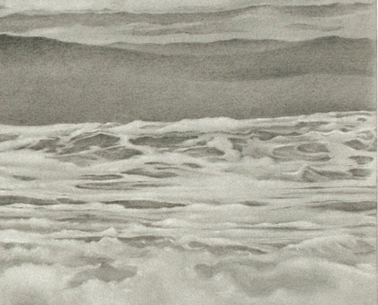 Mary Reilly, Breezy Point 2, photorealist graphite landscape drawing, 2010 - Photorealist Art by Mary Reilly