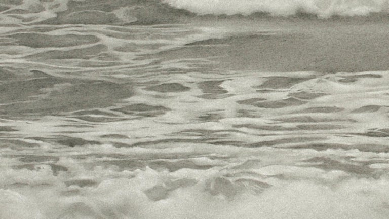 Mary Reilly, Breezy Point 2, photorealist graphite landscape drawing, 2010 - Gray Landscape Art by Mary Reilly