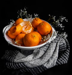 Sarah Phillips, Mandarin Orange Beauty Shot, still life food photograph, 2020