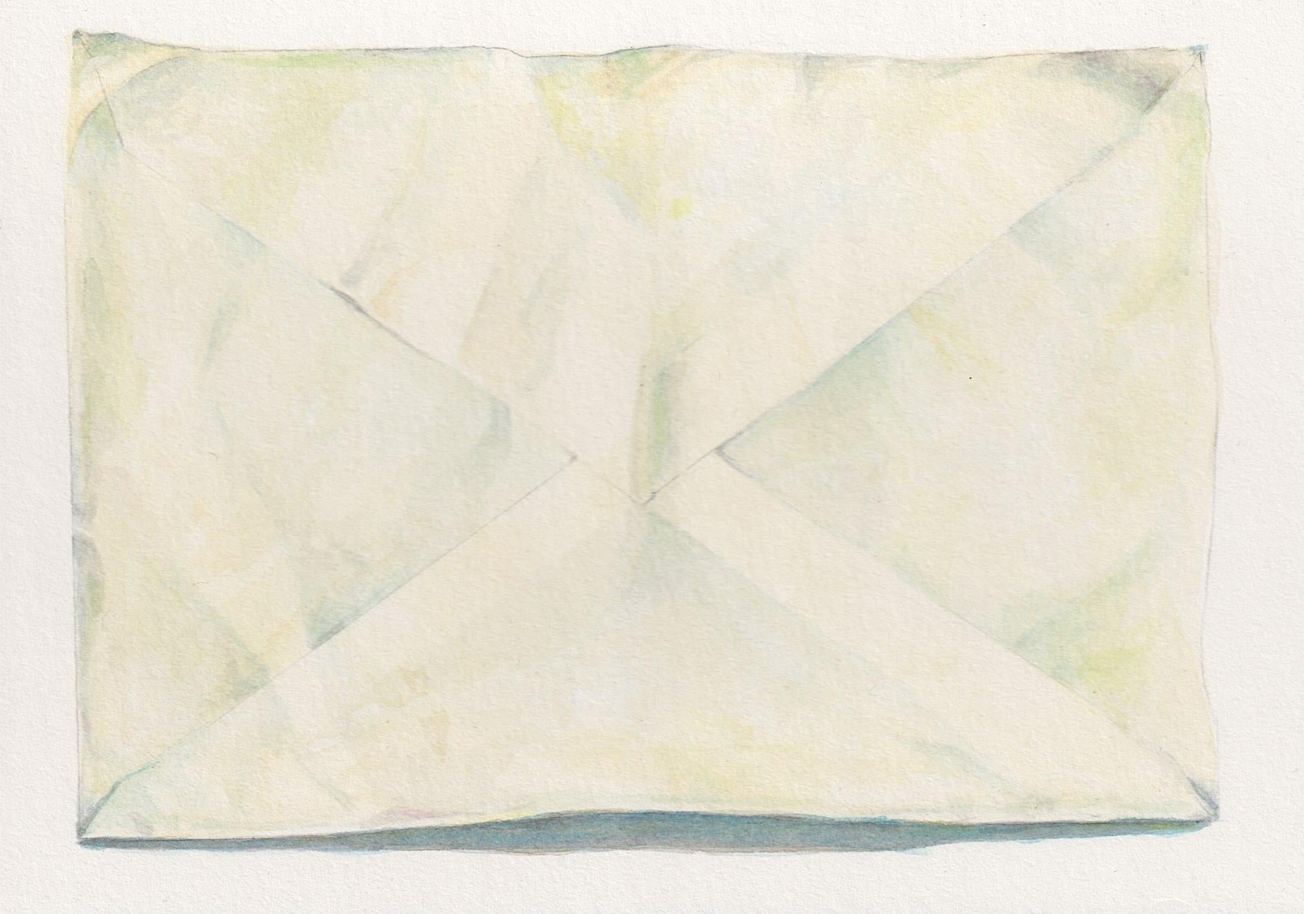 Sealed Envelope, contemporary realist watercolor still life