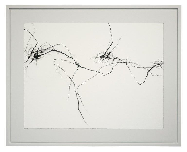 David Mellen Abstract Drawing - Minimal, Charcoal Drawing: 'Voices'