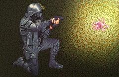 Acrylic on Canvas: 'Crowd Control'