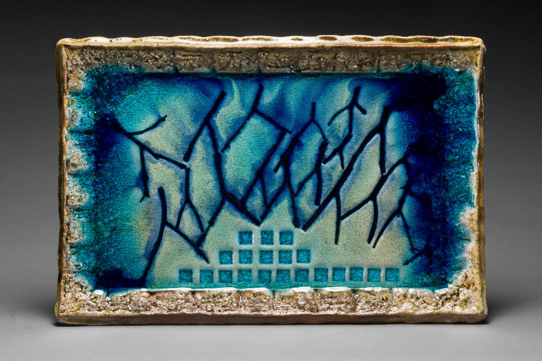 Wood Fired Ceramic Painting: 'Fire Painting 11.6.18'