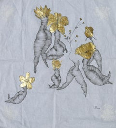 Painting on fabric: 'Flowers'