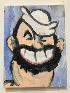 Oil painting portrait of Bluto: 'Ladies and Gentleman, here's Bluto'