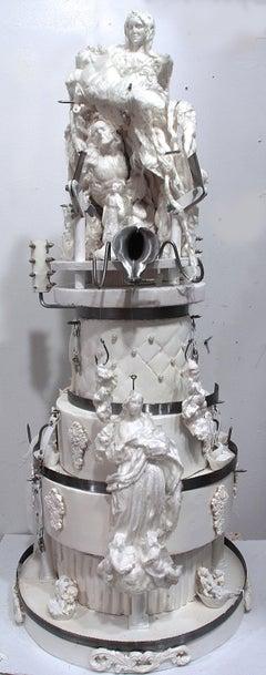 Large sculpture: 'Wedding cake with Pieta topper'