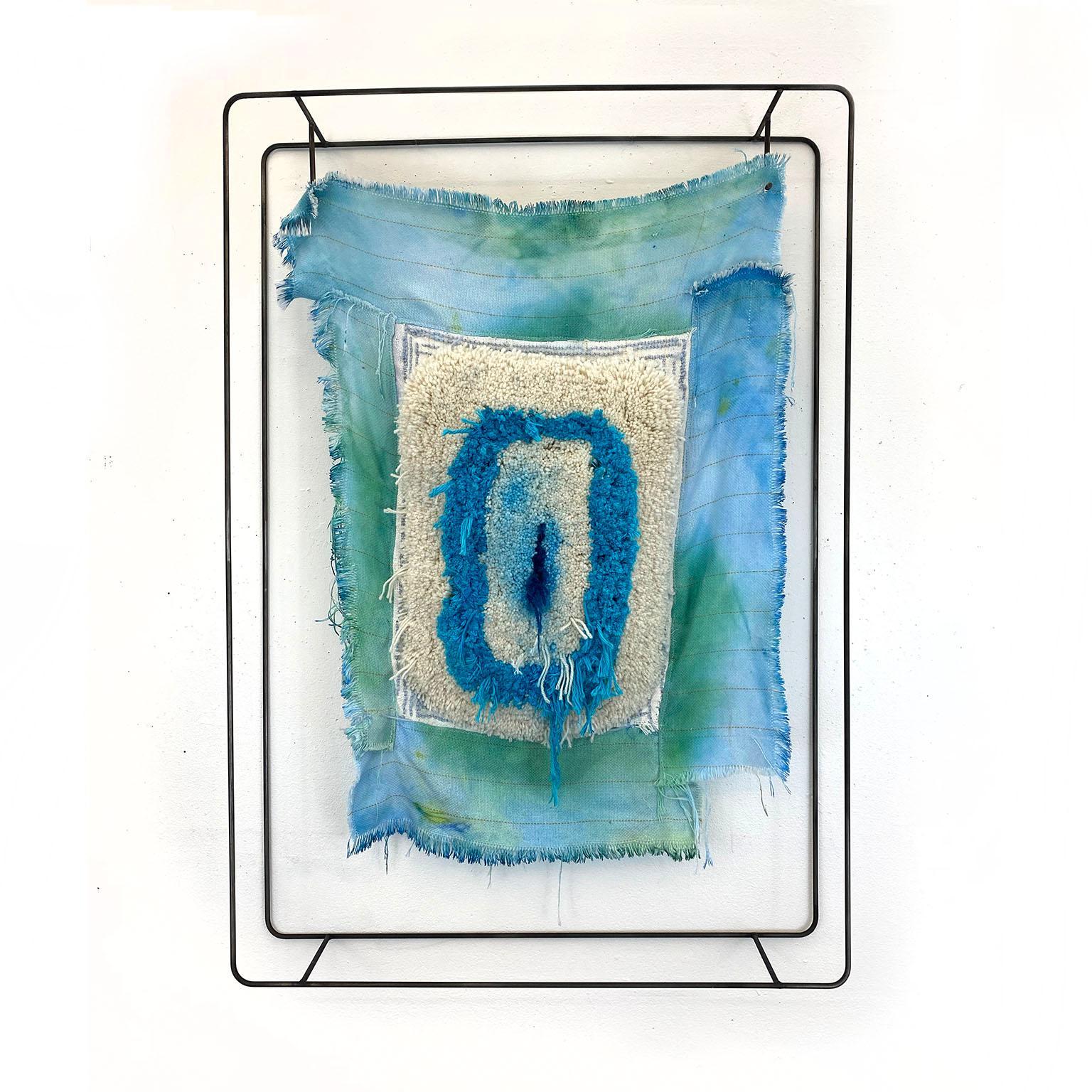 Textile Sculpture on Steel frame: 'Collar'