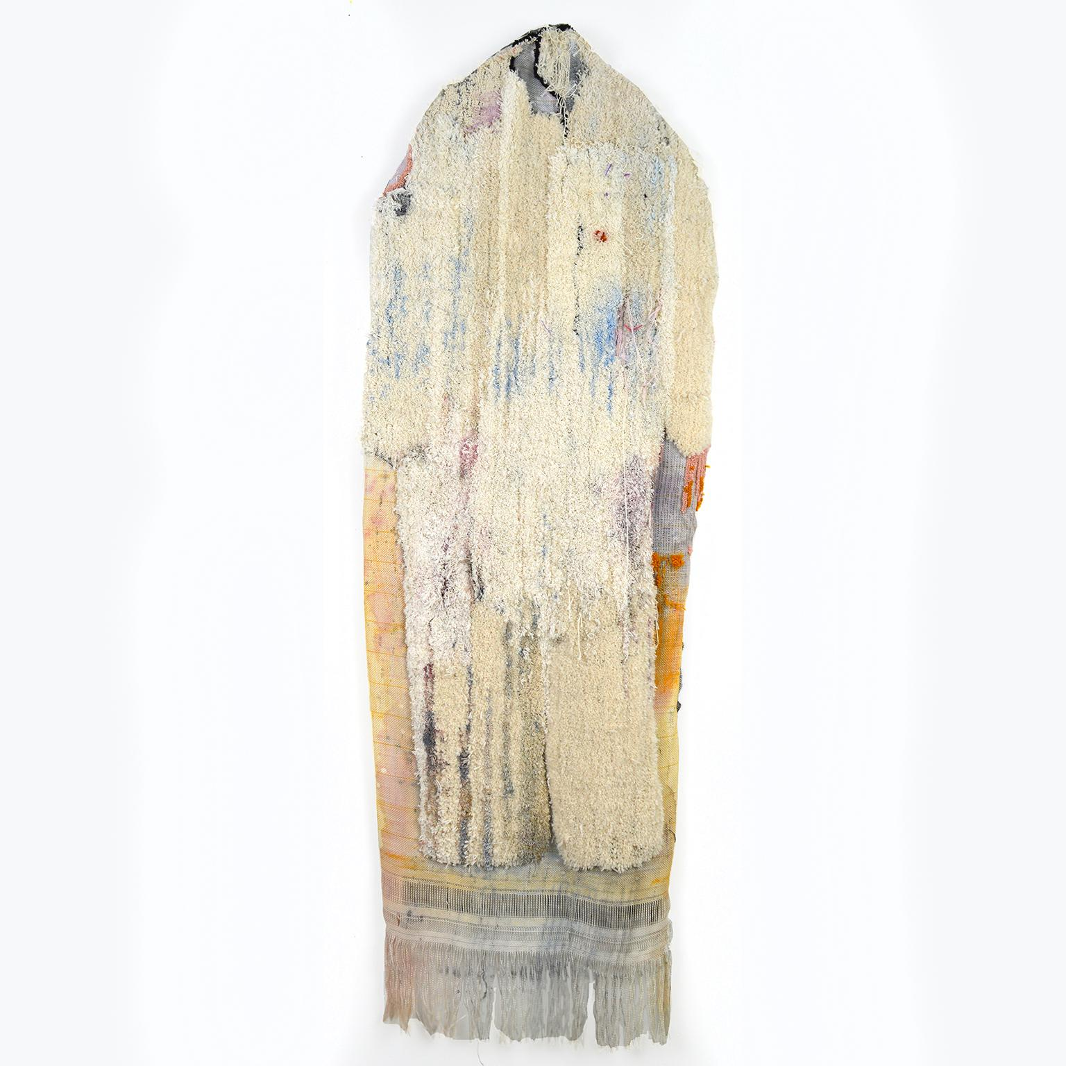 Large Textile Wall Hanging Sculpture: 'Jumpsuit'