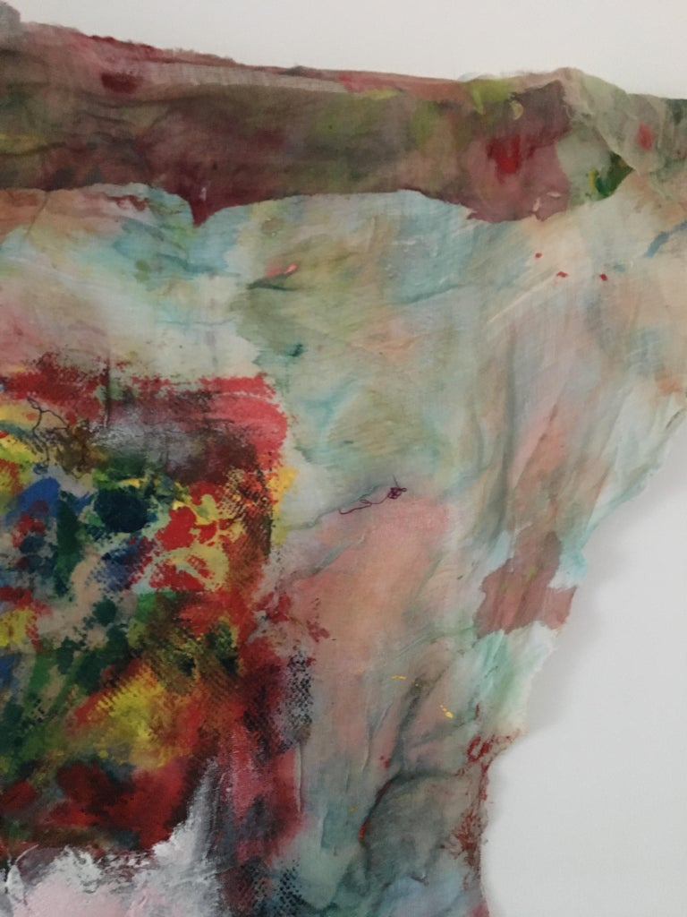 Textile Painting of flowers: 'Rags I' For Sale 6