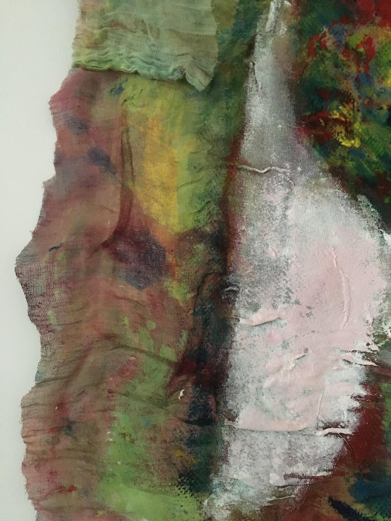 Textile Painting of flowers: 'Rags I' For Sale 8