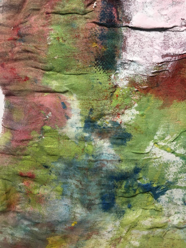 Textile Painting of flowers: 'Rags I' For Sale 10