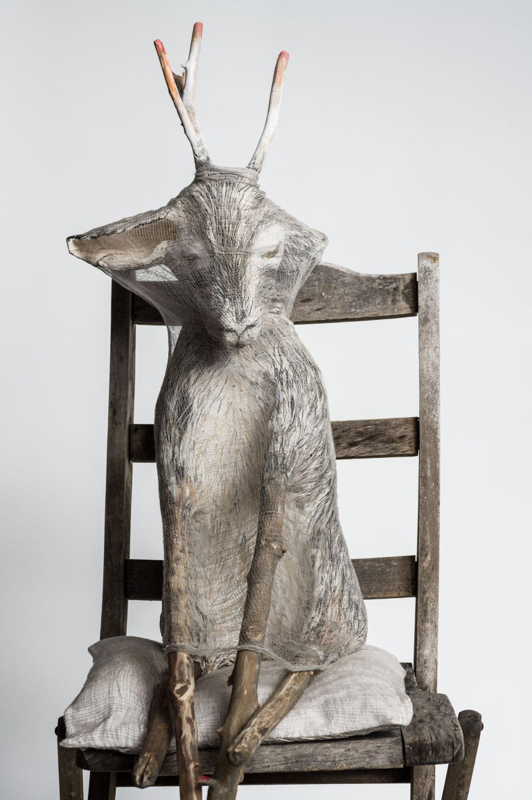 Animal sitting in chair, sculpture: 'Jersey Devil III' For Sale 2