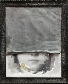 Portrait of young girl with lead sheet: 'NOVEMBER'