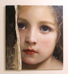 Portrait of young girl, oil painting: 'THE VEIL OF MAYA'
