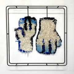 Textile Sculpture on Steel frame: 'Gloves'