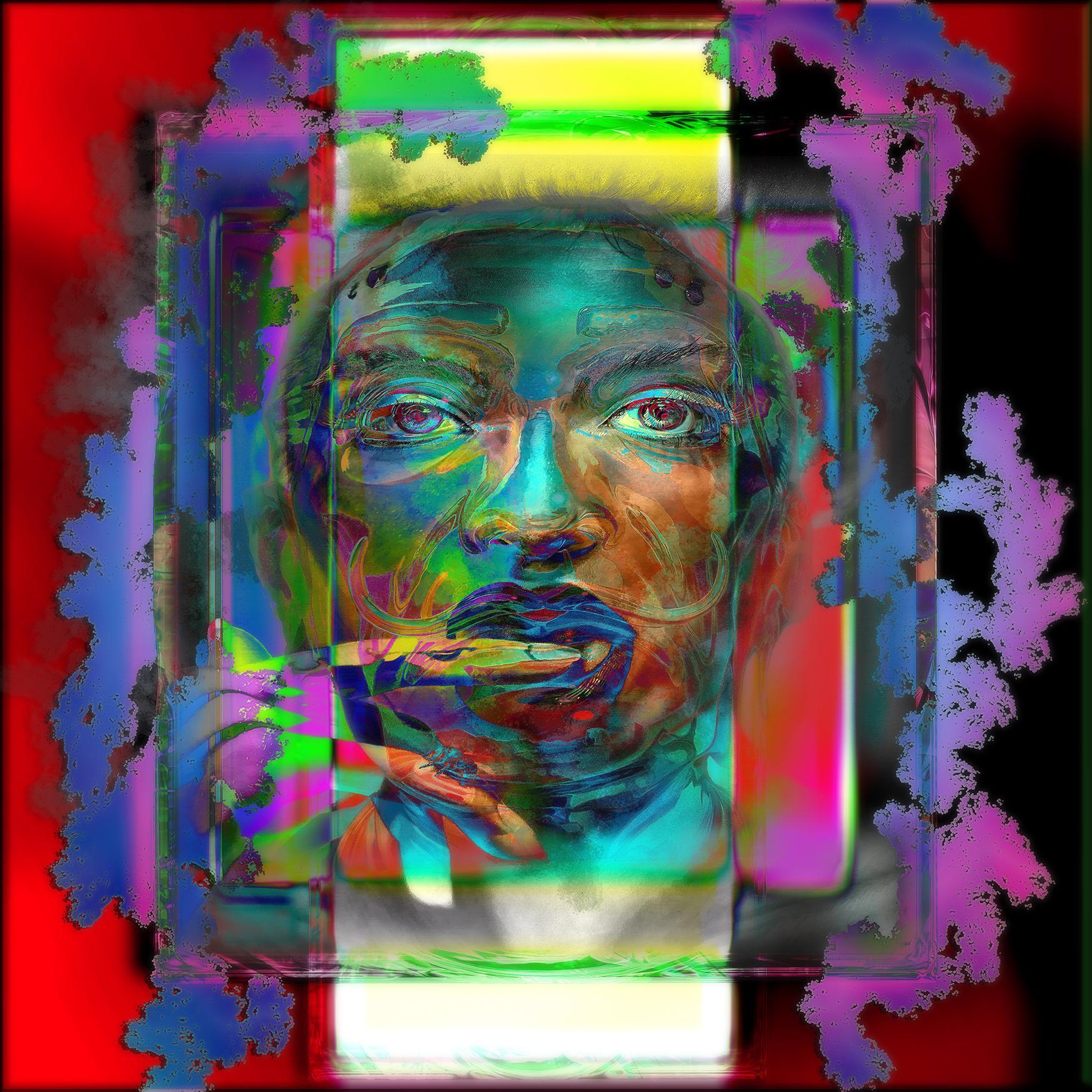 Framed Color Face III