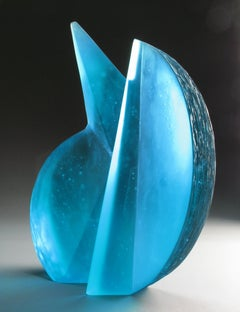 'Balanced Oblique' Abstract Geometric Glass Sculpture