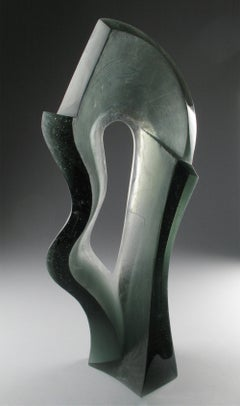 'Universal Transit' Abstract Sculpture Featuring Color Changing Glass