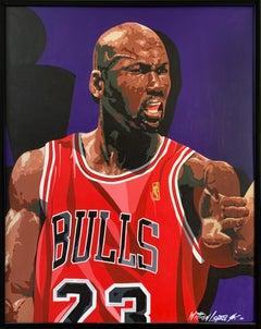 Michael Jordan, Acrylic on Canvas