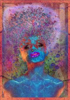 'My Guardian Angel II' Digital Painting, Lambda Print Mounted on Alu Dibond
