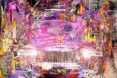 'Ghost Night Rolls Royce' Digital Painting on Lambda Print
