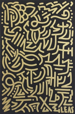 Golden Flow - Original Graffiti Inspired Artwork