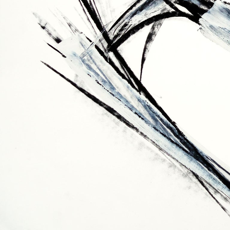 Composition - Gray Abstract Drawing by Marko Kratohvil