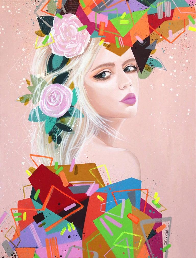 Sally K Figurative Painting - Geometries II