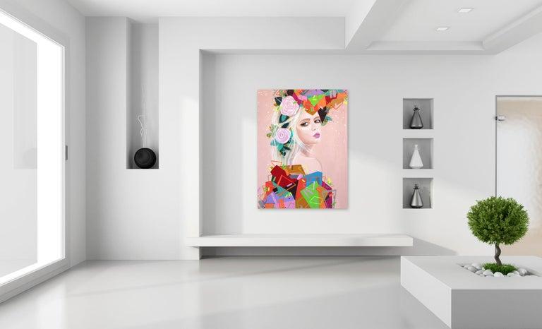 Geometries II - Painting by Sally K