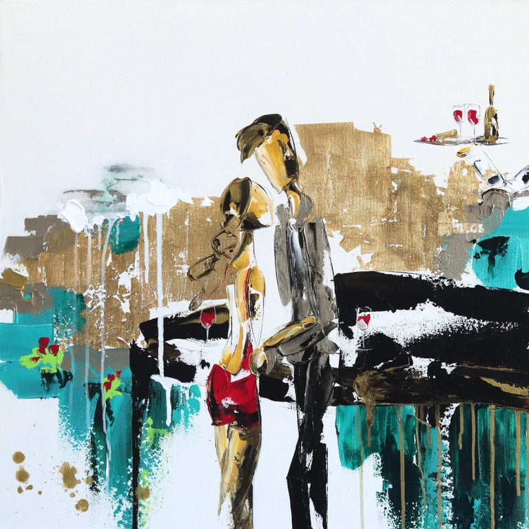 Guided by her passion for life and her spirit, French Canadian painter Zabel creates vibrant artworks filled with romance and immersive textures. With a belief that art is all about feeling, she creates magic and captures the moment by infusing her