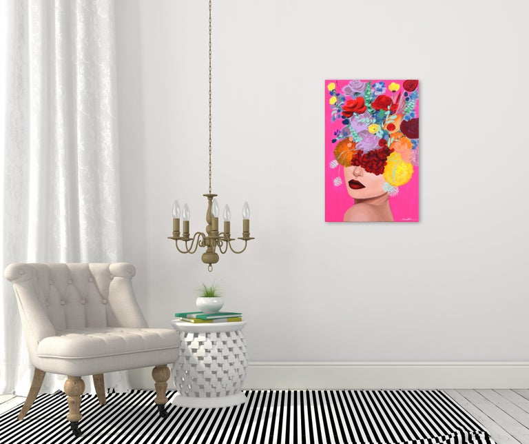 Pink Pop - Painting by Sally K