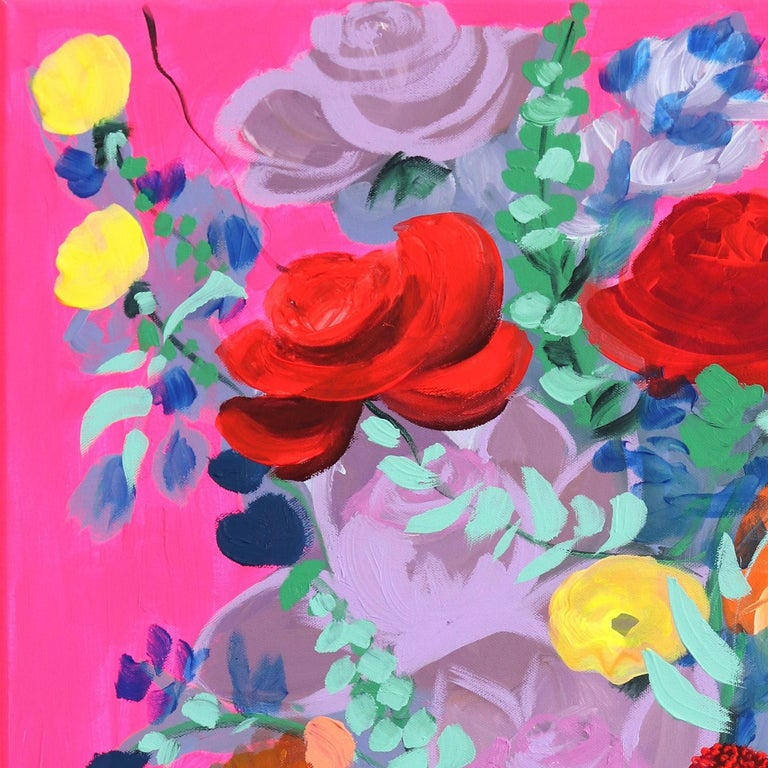 Pink Pop - Contemporary Painting by Sally K