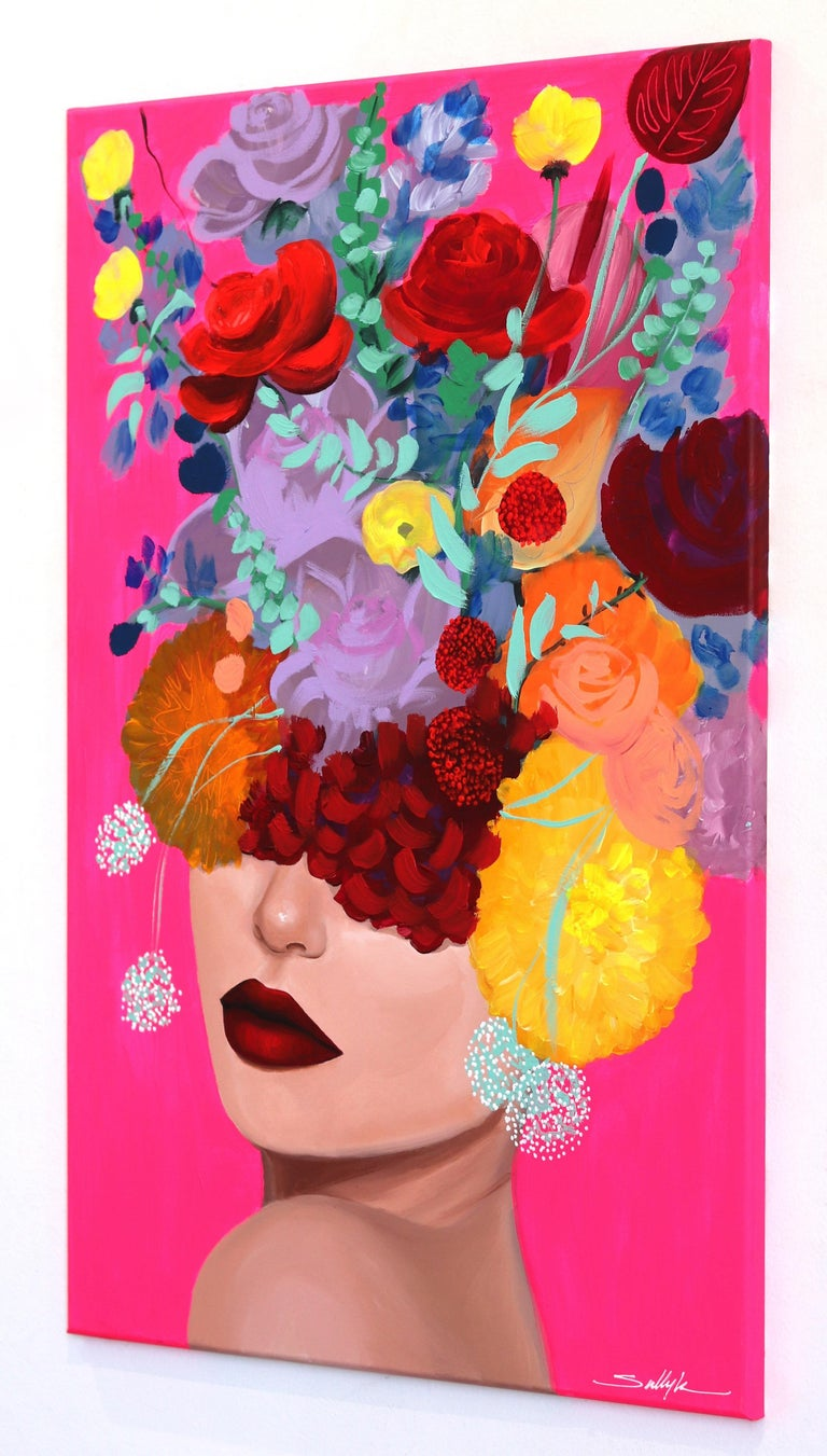Gazing at Lebanese American artist Sally K.'s floral portraits is consuming and empowering. Inspired by strong, feminine women, she creates pop-realistic paintings that speak to the energetic female experience; one of individuality and an inherent