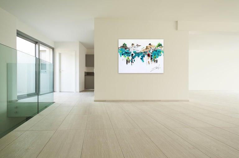 Laguna Bistro - Abstract Mixed Media Art by Zabel