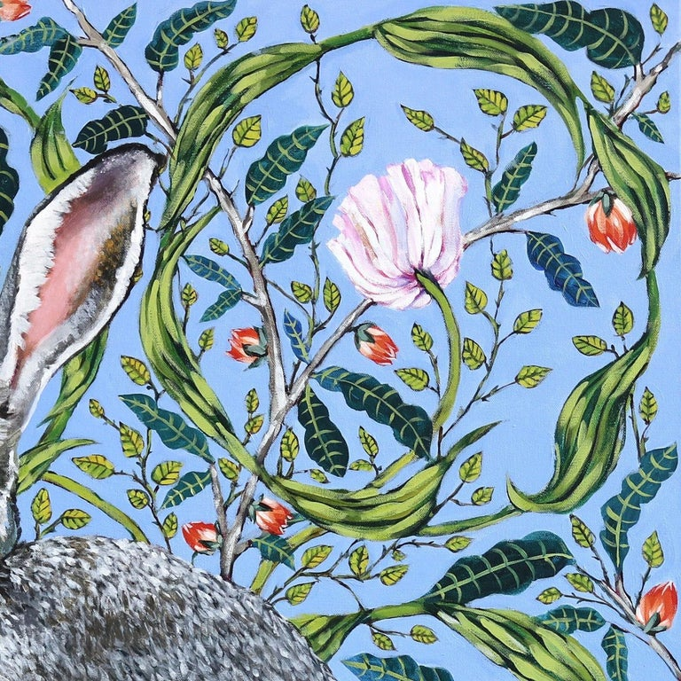 Naomi Jones's richly patterned realistic paintings focus on the preservation of vulnerable wildlife. Jones finds catharsis in painting soulful animals. Portraits of vulnerable species native to the North American landscape are painted with an