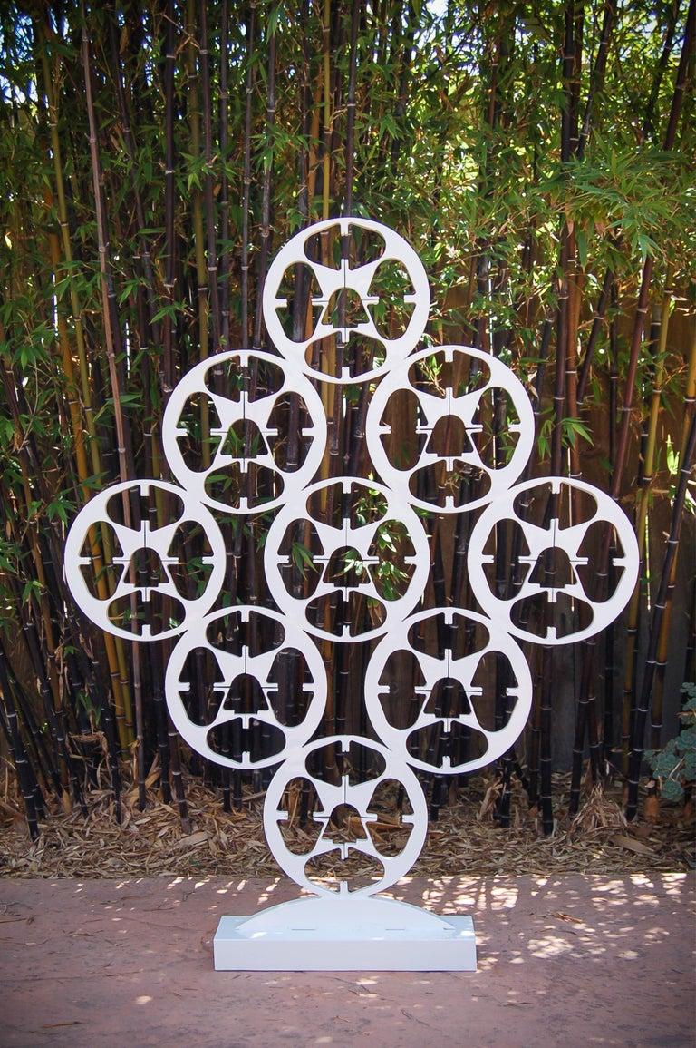 9 Reels - Large Modern White Steel Sculpture For Sale 2