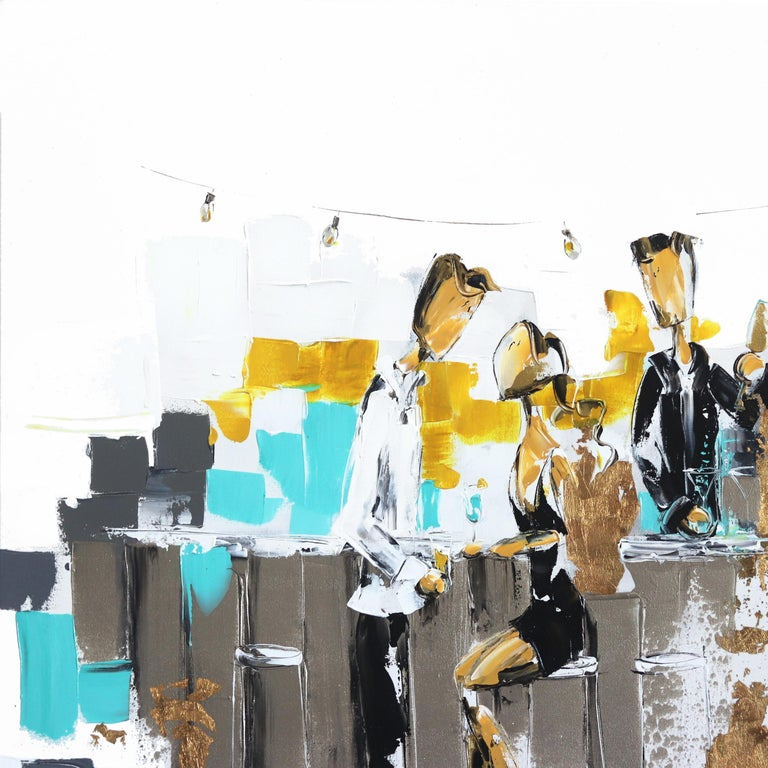 Tiffany Bistro - Abstract Painting by Zabel