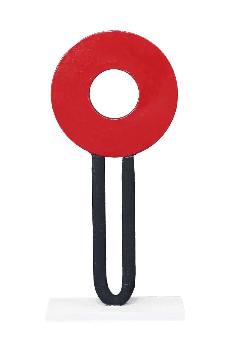 Granville Beals Figurative Sculpture - Red Head #1 - Red and Black Sculpture