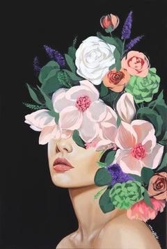 Emma - Original Pop Realistic Floral Abstraction