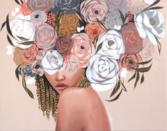 Rose Garden II - Original Sally K Figurative Artwork