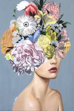 Kacey - Soft Floral Figurative Artwork