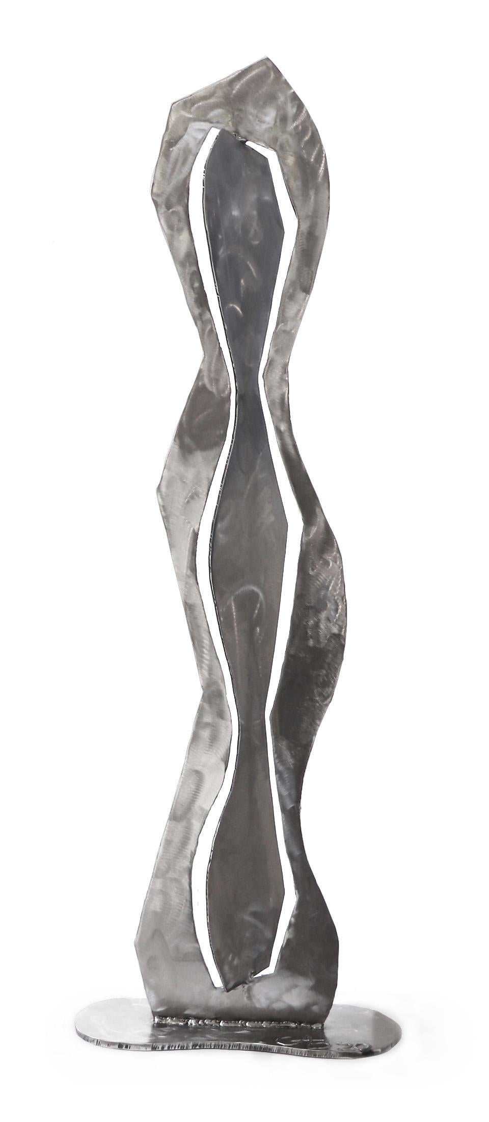 Little One - Figurative Abstract Metal Sculpture