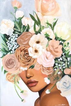 Bella Blush - Floral Figurative Artwork